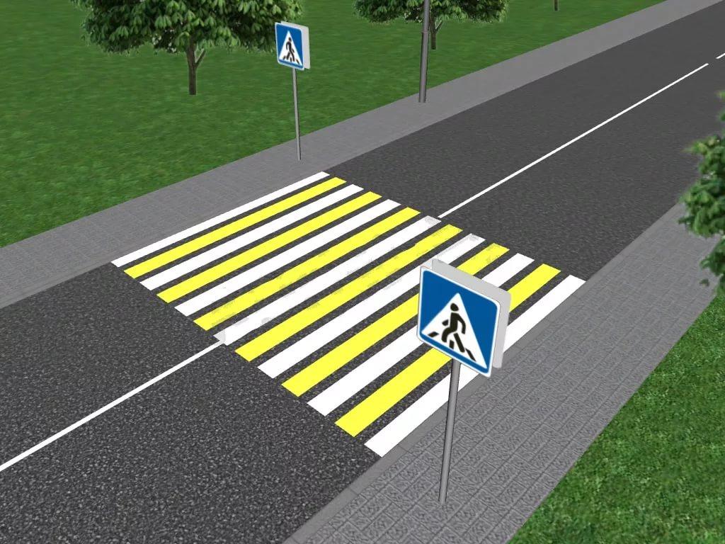 ПДД - пешеходный переход: знак, разметка, правила проезда