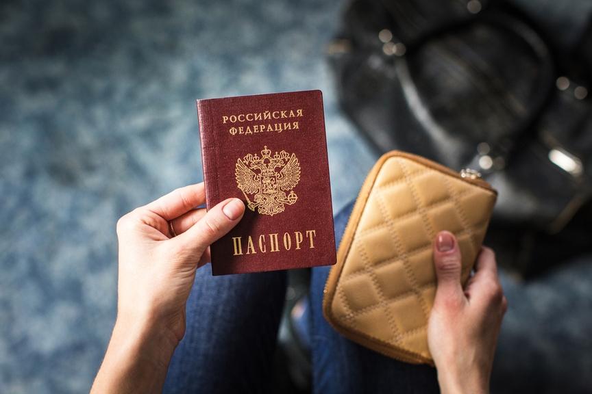 Картинка паспорта в руках