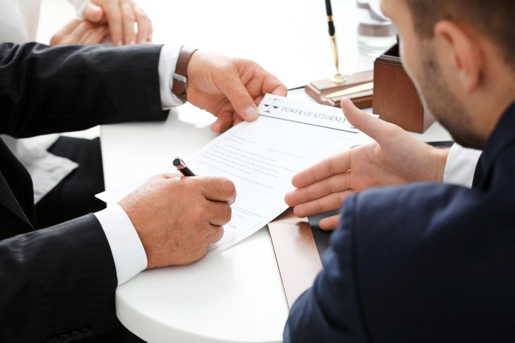 заключение договора с клиентом